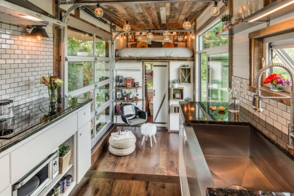 Inside of the Alpha tiny home